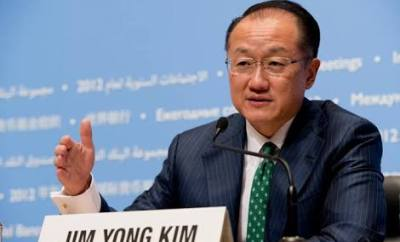 World Bank president, Jim Yong Kim,