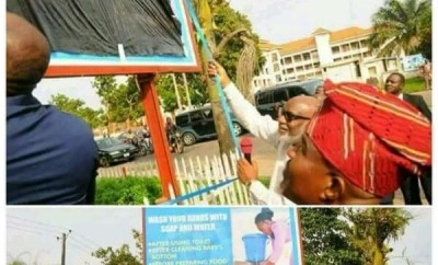 Akeredolu commissioning a billboard
