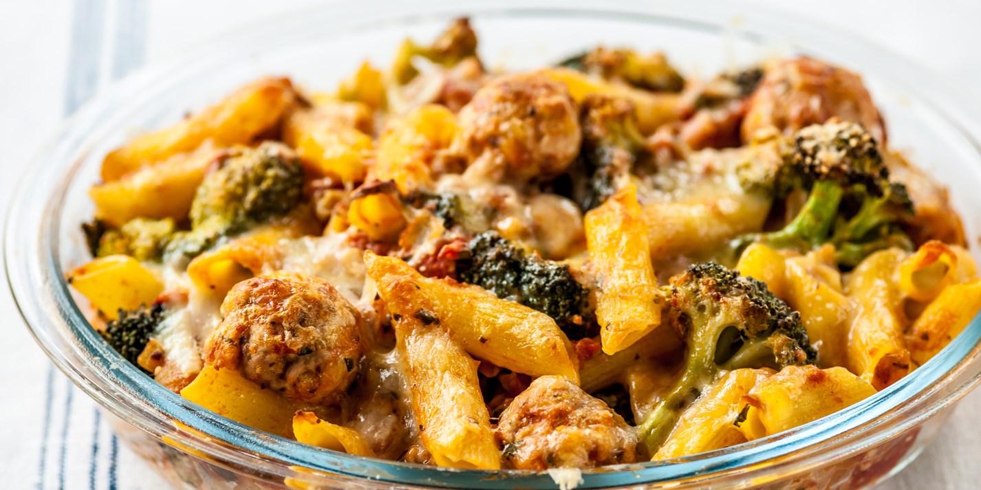 Meatball Pasta Bake Recipe Kids Recipes Great British