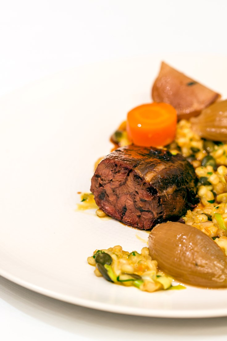 Braised Beef Shin Recipe with Barley Risotto - Great ...