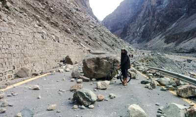 Karakoram Highway - KKH blocked