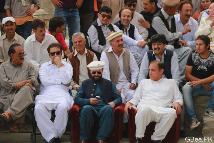 Deputy Speaker Gilgit-Baltistan and Minister Works Gilgit-Baltistan at Ginani Festival