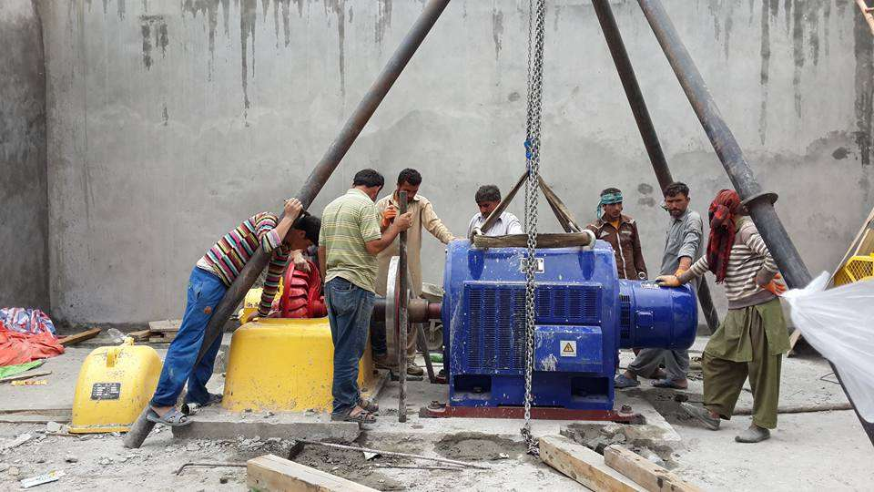 500KV Hydro Power Generator Installed at Community-run Power Station in Ahmedabad Hunza
