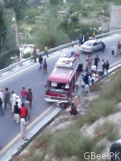 Hunza accident on KKH