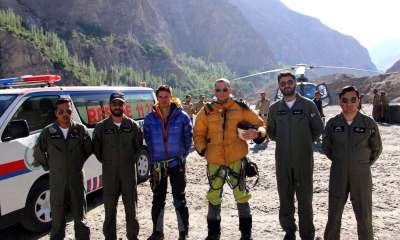 Pakistan Army rescues Bruce Normand and Miller Timothy from Ultar Sar