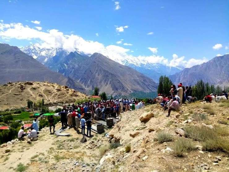 Hundreds of people attended the funeral of Mr. Ainullah — the Founder of  Hunza Eagle's Nest Hotel