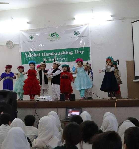 Kids perform at Global Handwashing Day 2019 in Gilgit
