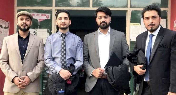 Dr. Usama Riaz Shaheed from Gilgit-Baltistan with his friends.