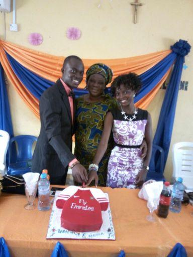The celebrants with Mrs. Alasoadura