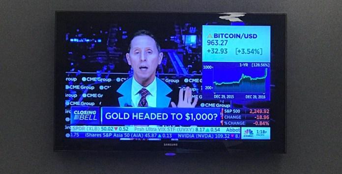 Bitcoin Value Climbs more than $1000 in 2017