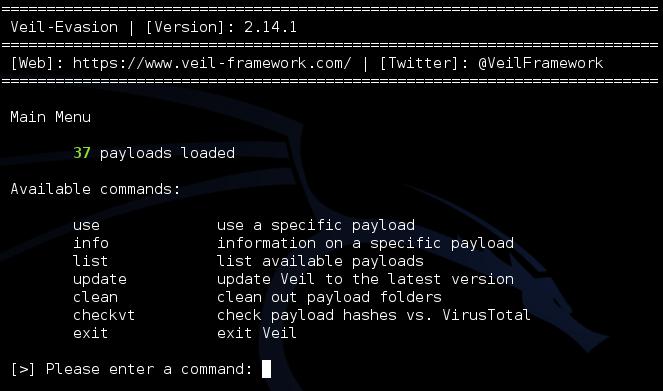 - veil 6 - Bypass Antivirus with Advanced Exploitation Frameworks