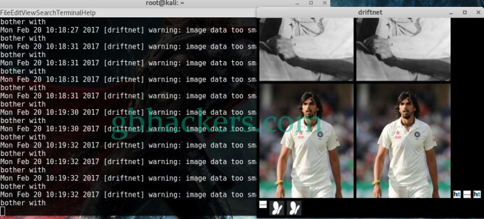 Driftnet  - websploit 5 - Tool used to Capture Images that Your Friend looking Online