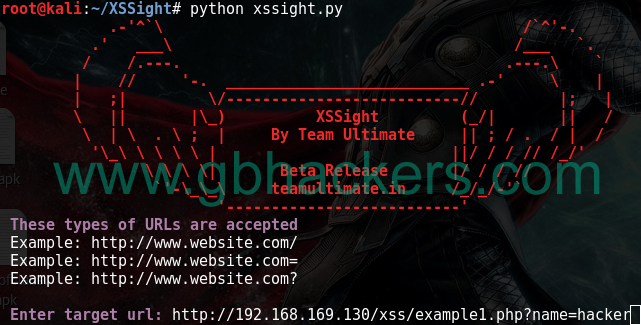 XSSight - Automated XSS Scanner And Payload Injector
