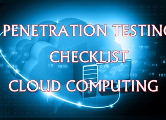 Cloud Computing Penetration Testing Checklist