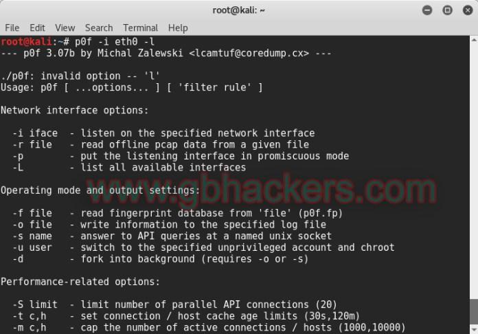 - p0f0 copy - Passive Traffic Analysis OS Fingerprinting and Forensics Tool