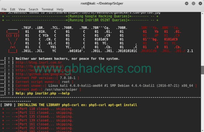 sn1per - Automated Information Gathering & Penetration Testing Tool