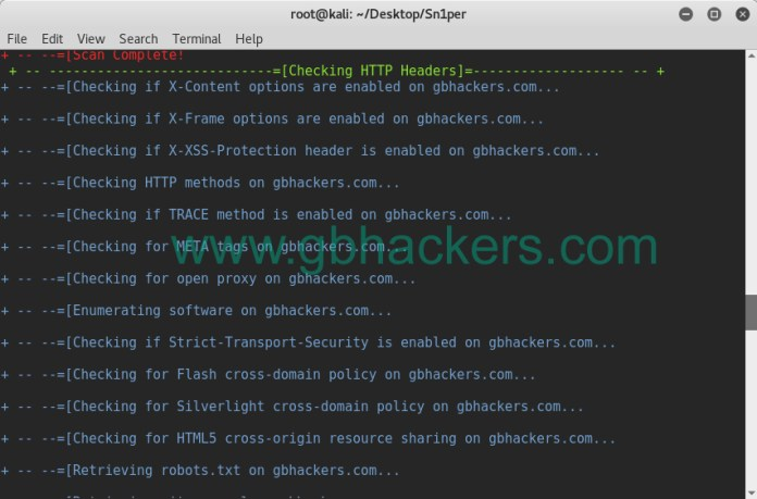 - sniper22 - Automated Information Gathering & Penetration Testing Tool