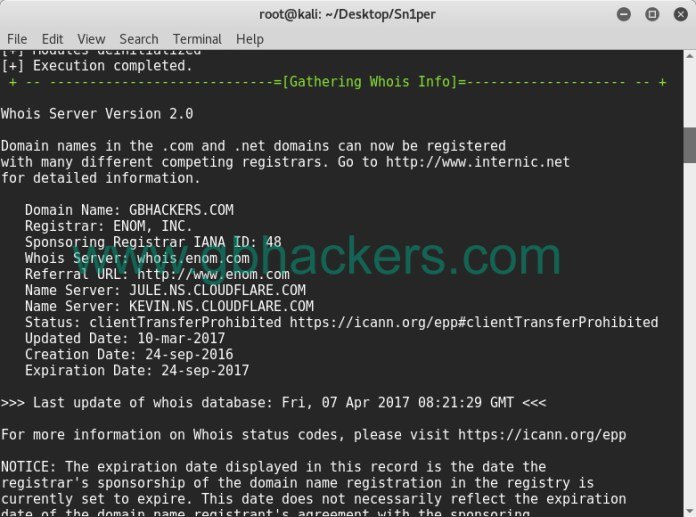 - sniper8 - Automated Information Gathering & Penetration Testing Tool