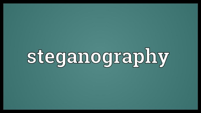 Steganography  - st - Risk with Steganography and Importance of running Steganalysis