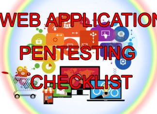 Web Application Penetration Testing Checklist