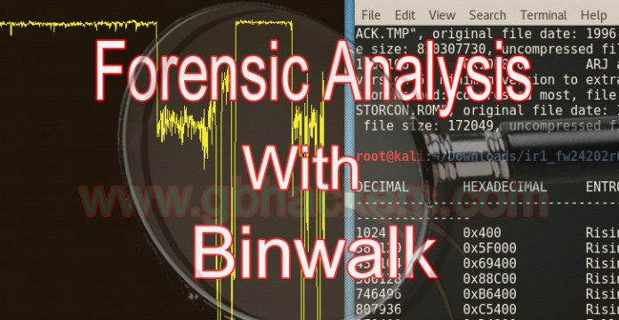 Analyzing embedded files  - Binwalkfeature - Analyzing Embedded Files and Executable Code with Firmware