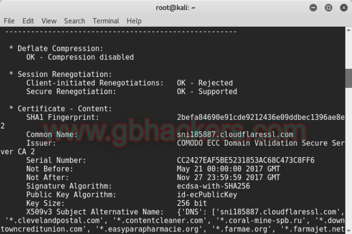 SSLyze Fast and Complete SSL Scanner to find Misconfiguration