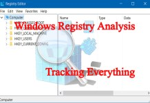 Windows Registry Analysis-Tracking Every activity