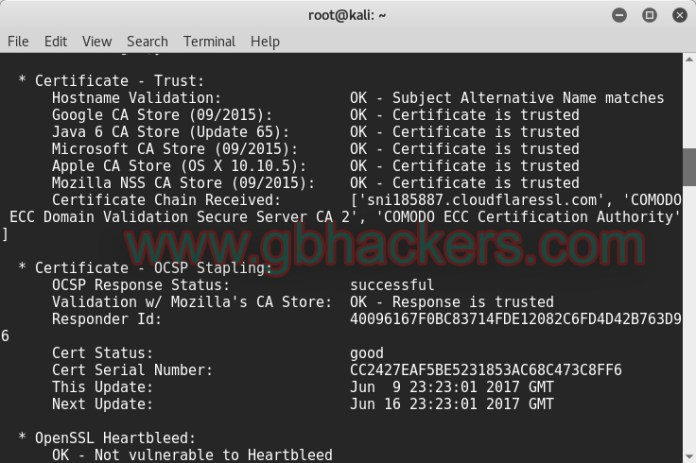 SSLyze Fast and Complete SSL Scanner to find Misconfiguration  - sslyze2 - Fast and Complete SSL Scanner to find Misconfiguration