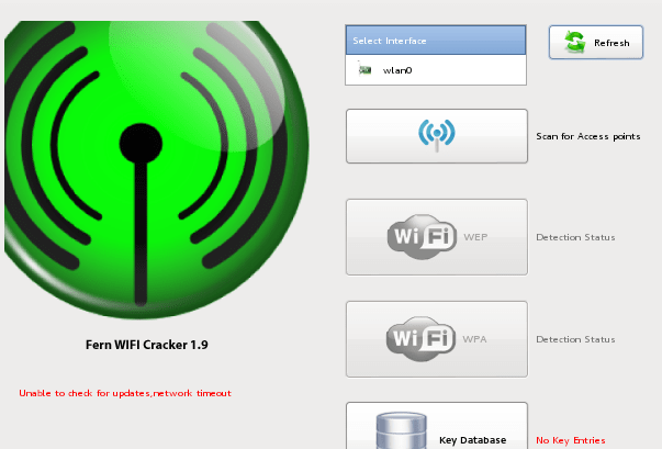 Fern Wifi cracker - Password Cracking Tool to Enoy Free Internet