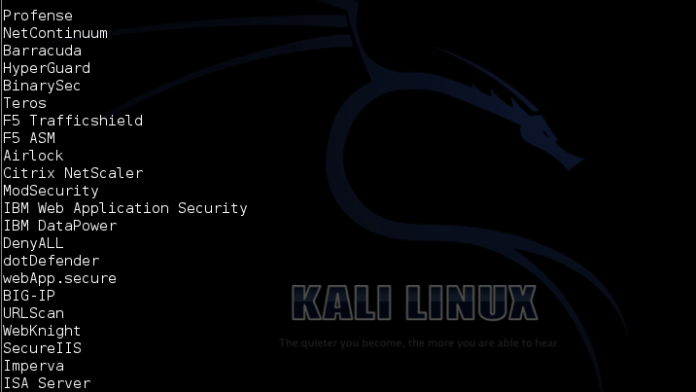 - waf - Web Application Firewall detection using Kali Linux- WAFW00F