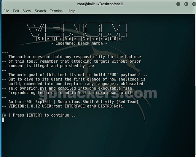 Bypass an AV Detection with Encrypted Payload using VENOM Tool