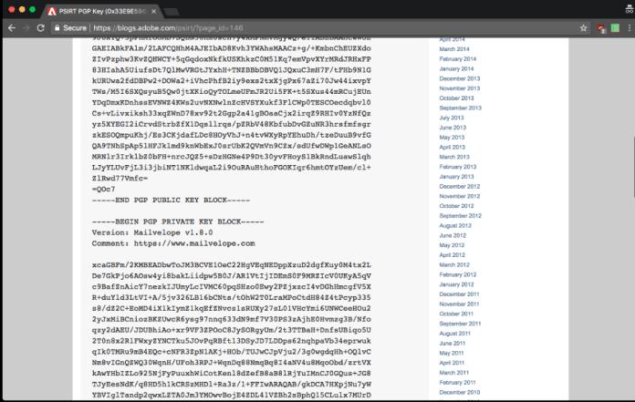 Adobe key Leaked