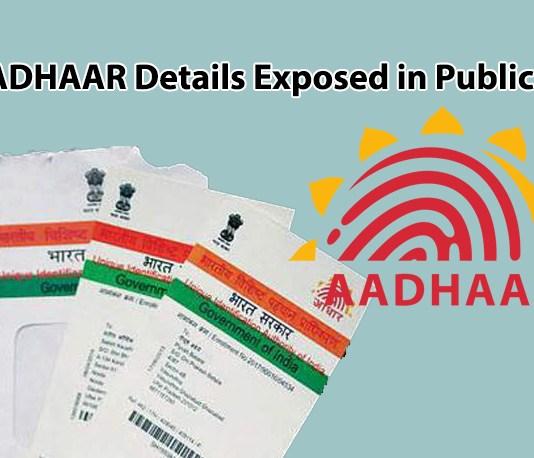 Aadhaar Details Exposed