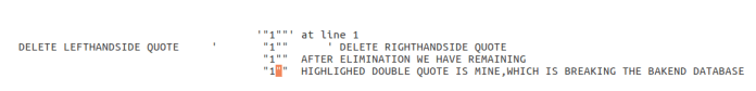 - QQW - Manual SQL Injection With Double quotes Error Based String Method
