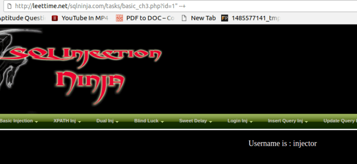 - as - Manual SQL Injection With Double quotes Error Based String Method