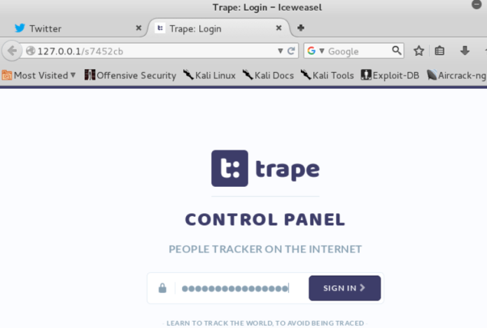 Trape -Tool to Track anyone on Internet and to Perform real-world
