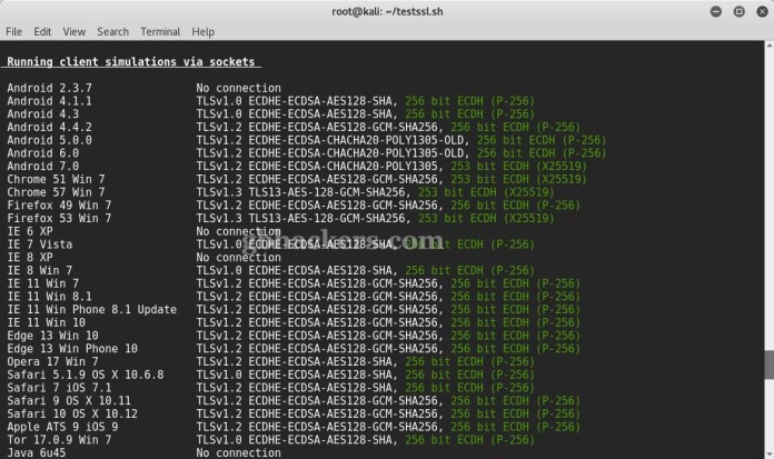 testssl.sh  - 10 - Tool to check TLS/SSL vulnerabilities and Ciphers