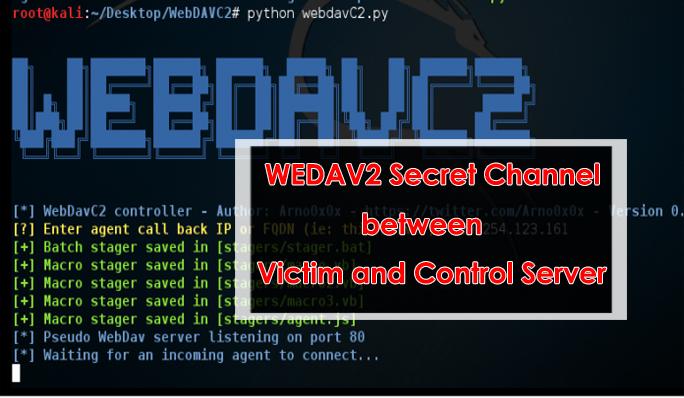 WebDAV  - WEBDAV - WebDAV Secret Channel between Victim and Control Server