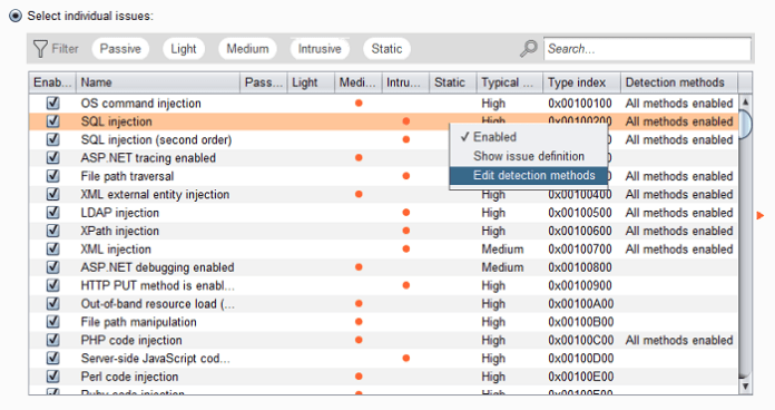 Burp Suite Version 1 7 30 Released adds Support to Scan for