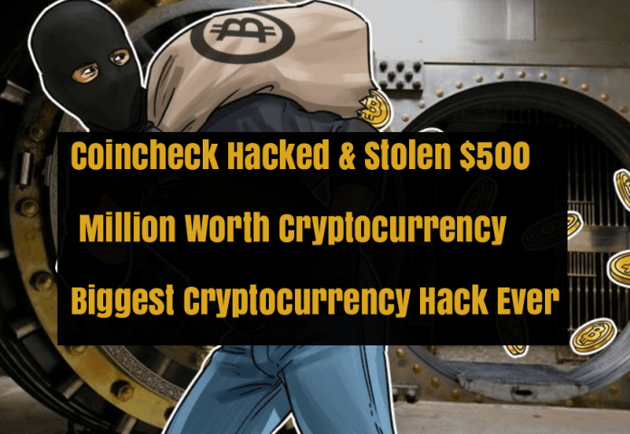 Coincheck Cryptocurrency Exchange Hacked  - Coincheck hacked - Coincheck Cryptocurrency Exchange Hacked $ Lost $500 Worth Currency