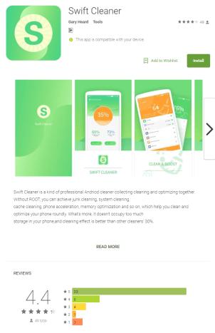 "- Figure 1 - Swift Cleaner – Android Malware developed in ""Kotlin"""