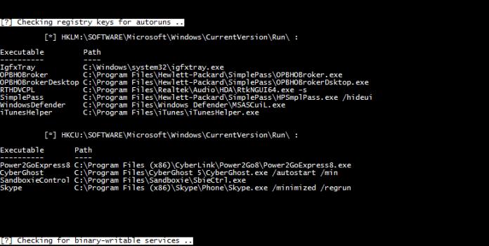 windows auditing tool  - Screenshot 505 1 - WINSpect-Powershell based Windows Auditing Tool
