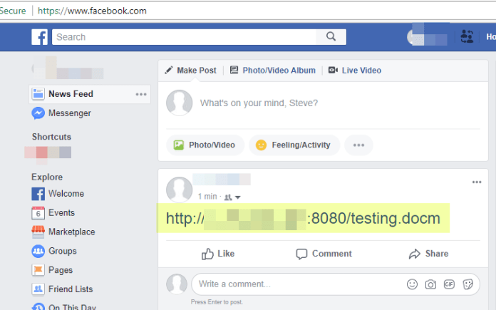 Facebook vulnerability  - 1 - Facebook vulnerability – May Allow an Attacker to Perform Phishing Attack
