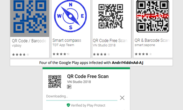 Android Malware in QR Code apps